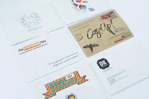 печать конвертов с лого