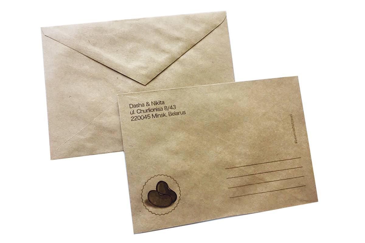 конверт крафт